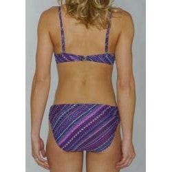 Island Love Women's Purple Aztec Underwire Bikini - Thumbnail 1