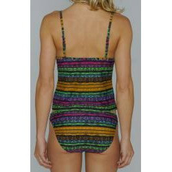 Island Love Women's Snakeskin Stripe Tankini