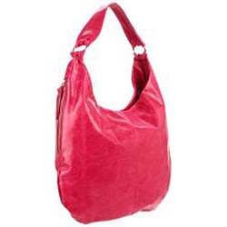 Hobo International Gabor Fuchsia Leather Hobo Bag - Thumbnail 1