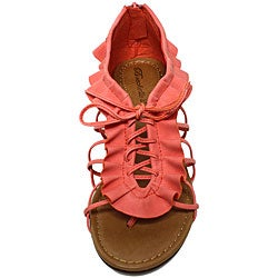 Oceanstar Women's Honey Suckle Ruffle Sandals