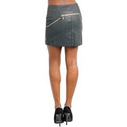 Stanzino Women's Plus-size Dark Grey Mini Skirt - Thumbnail 1