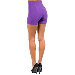 Stanzino Women's Purple High-Waisted Shorts - Thumbnail 1