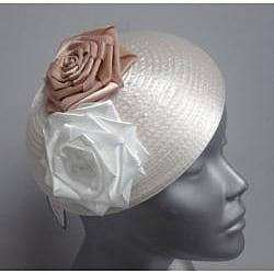 Swan Hat Satin Ribbon Ivory Fascinator Hat - Thumbnail 1