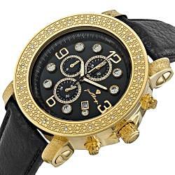 Men's Tazo 18K Gold-plated Diamond Watch - Thumbnail 1
