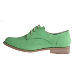 Refresh by Beston Women's 'ALEXIS-02' Oxford Shoes - Green - Thumbnail 1