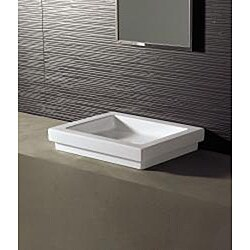 Bissonnet Logic-50 Ceramic Bathroom Vessel Sink - Thumbnail 1