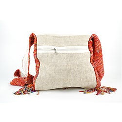 Recyled Silk and Hemp Purse (Nepal)