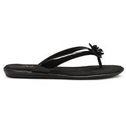 A2 by Aerosoles Women's 'Torchlight' Black Patent Thong Sandals