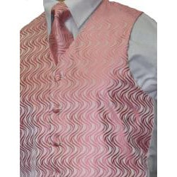Ferrecci Men's Pink Vest Tie 4-piece Accessory Set - Thumbnail 1
