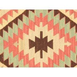 Hand-woven Keisari Kilim IV Grey Wool Rug (4'9 x 6'9)