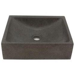 Half Moon Concrete Grey Vessel Bathroom Sink - Thumbnail 1