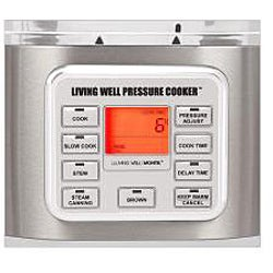Montel Williams Living Well 5-quart Stainless Steel Pressure Cooker - Thumbnail 1