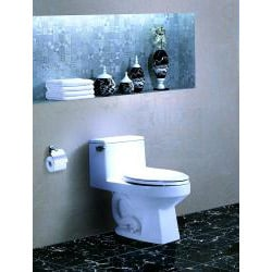 'ROCHESTER' Contemporary European Toilet with Single Flush and Soft Closing Seat - Thumbnail 1