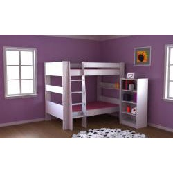 Popsicle White Twin Over Twin Bunk Bed Free Shipping Today Overstock Com 14268940