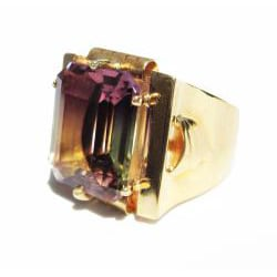 California Girl Jewelry 18k Gold Ametrine Art Deco 1930's Ring