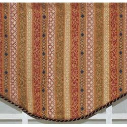 RLF Home Multi 17-inch Dublin Cornice Window Valance - Thumbnail 1