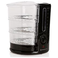 Wolfgang Puck 1400-Watt 3-Tier Heavy Duty Rapid Food Steamer (Refurbished) - Thumbnail 1