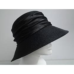 Swan Women's Black Organza Crushable Bucket Hat - Thumbnail 1