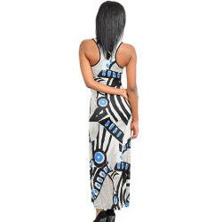 Stanzino Women's Abstract Print Tank Maxi Dress - Thumbnail 1