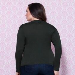 Femme Women's Plus Faux Wrap Long-sleeve Top