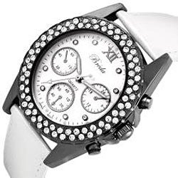 Breda Women's 'Victoria' Leather Watch - Thumbnail 1