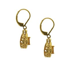 Gioelli Gold over Silver Simulated Multi-gemstone Earrings - Thumbnail 1