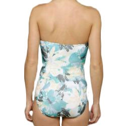 Jantzen 'Lovely Layers' 1-piece Turquoise Swimsuit - Thumbnail 1