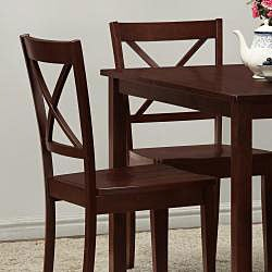 Norfolk 5-piece Dining Set with X Back Chairs - Thumbnail 1