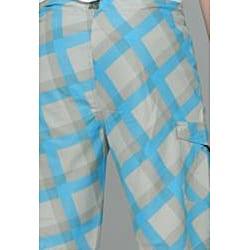 Zonal Men's 'Content' Grey/ Blue Plaid Boardshorts - Thumbnail 1