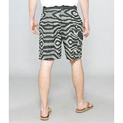 Zonal Men's 'Primative E-board' Grey Zebra Swim Shorts - Thumbnail 1
