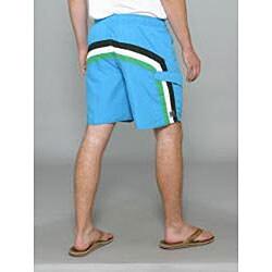 Zonal Men's 'Lanes E-Board' Blue Swim Shorts