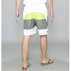 Zonal Men's 'Word E-Board' Green/ Grey Swim Shorts - Thumbnail 1