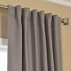 Exclusive Fabrics Cotenza Steel Grey Faux Cotton Curtain Panel - Thumbnail 1