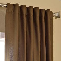 Exclusive Fabrics Cocoa Faux Cotton Cotenza Curtain Panel