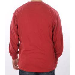 Farmall IH Men's Vintage Red Henley Shirt - Thumbnail 1