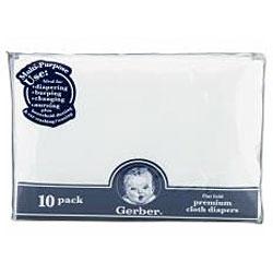 Gerber Flatfold Gauze Premium Cloth Diapers (Pack of 10)