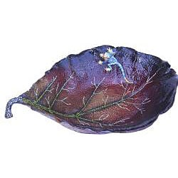 Cristiani Limited Edition Leaf Bowl with Lizard - Thumbnail 1
