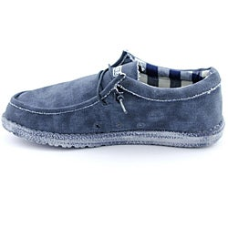 Hey Dude Men's Wally Blue Casual Shoes - Thumbnail 1