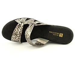 White Mountain Women's Origami Gold Sandals - Thumbnail 1