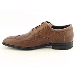 Rockport Men's Hillandale Brown Dress Shoes Wide