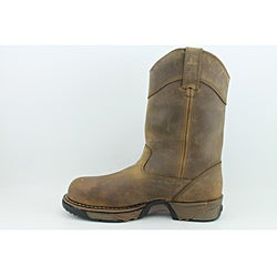 "Rocky Men's 11"" Pull-on Aztec Brown Boots - Thumbnail 1"