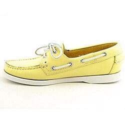 Sebago Women's Docksides Yellow Casual Shoes