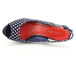 Nine West Women's Bigspender Blue, Navy Blue Sandals - Thumbnail 1