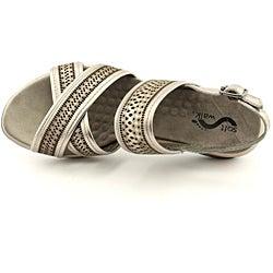 Softwalk Women's Tribes Silver Sandals - Thumbnail 1