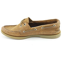 Sperry Top Sider Men's A/O 2-eye Brown Casual Shoes Wide - Thumbnail 1