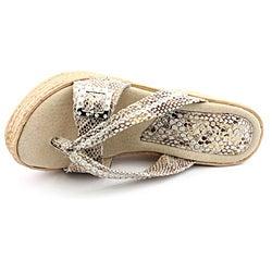 Sbicca Women's Compass Beige Sandals - Thumbnail 1