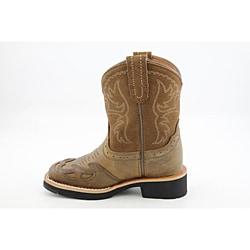 Ariat Girl's Showbaby Squaretoe Wingtip Brown Boots
