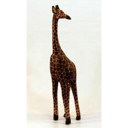 Hand-Carved Wooden Giraffe (Kenya)