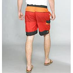 Zonal Men's Transporter E-Board Swim Shorts in High Risk Red - Thumbnail 1