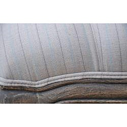 Oxford Stripe Ottoman - Thumbnail 1